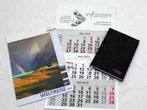 Kalender mit Werbeaufdruck